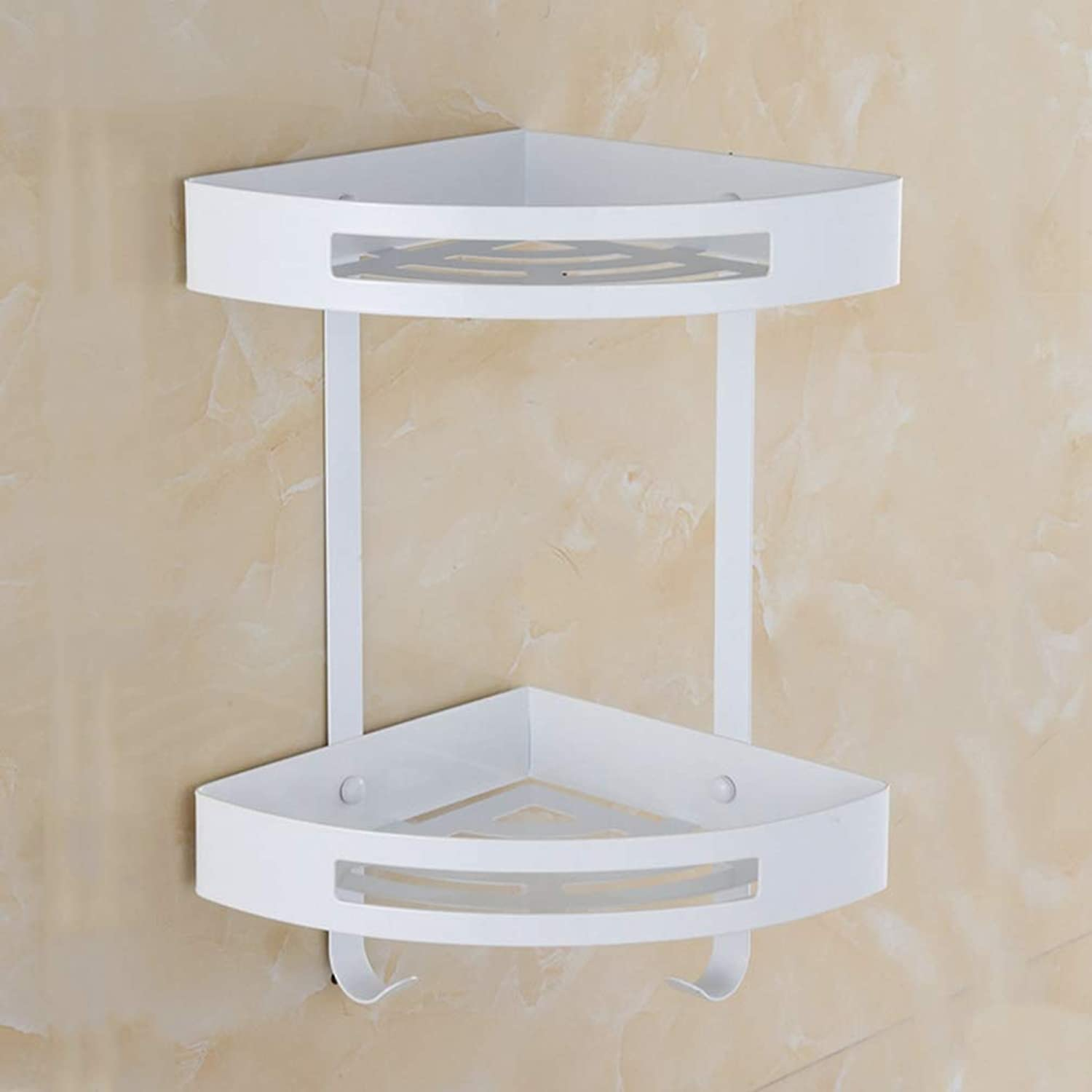 LUDSUY Bathroom accessoriesToilet Bathroom Shelf Bathroom Shelving Triangle Corner Shelf Storage Rack Shelf Bathroom Wall