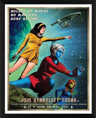 Culturenik Star Trek Join Starfleet Recruiting Poster (Joe Corroney It's Your Galaxy Too) Sci-Fi TV Show Druck (Gerahmtes Poster 28,9 x 35,6 cm)