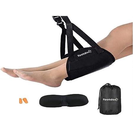 Hongzer Foot Hammock Airplane Footrest Under Desk Foot Hammock Office Feet Rest Travel Accessories