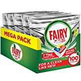 Fairy Platinum Plus Dishwasher Tablets Bulk, Lemon, 100 Tablets, Best Tough Food Cleaning That Leaves Your Dishes Shiny Clean Like New
