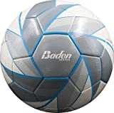 Baden Low Bounce Futsal Practice Ball, Grey/White/Blue, 4