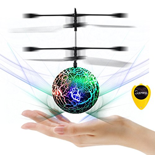 Slepwel UFO Flying Ball Magic led Light with Remote (Green)