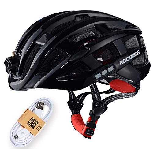 ZONSUSE Casco Bicicleta con Luz LED, Casco Bici de Ciclo Ajustable Deporte Cascos...