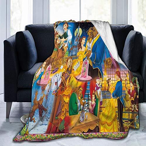 Disney Beauty And The Beast - Manta con capucha, diseño de moda, ligera, cómoda, para todas las estaciones