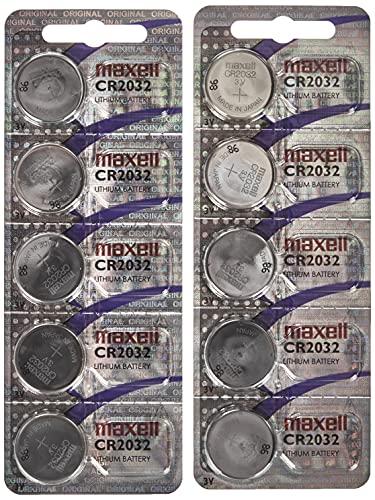 Oferta de Maxell CR2032 - Pilas de botón (Litio, 3 V, 2 Paquetes de 5 Unidades)
