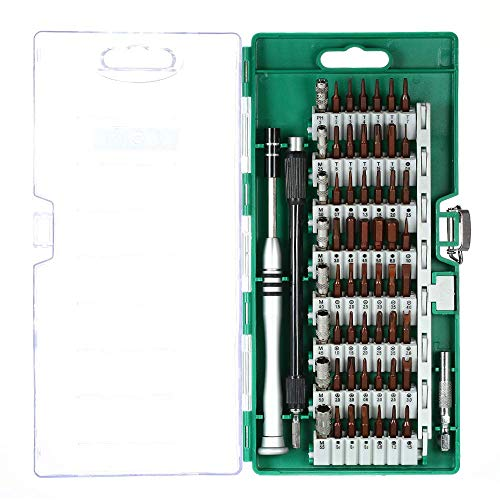 Zjcpow 60 in 1 Multi-Functional Precision Telecommunication Tool Magnetic Torx Hex Slotted and Screwdrivers Set Repair Tools Kit for Cellphone Laptop xuwuhz (Color : Green)