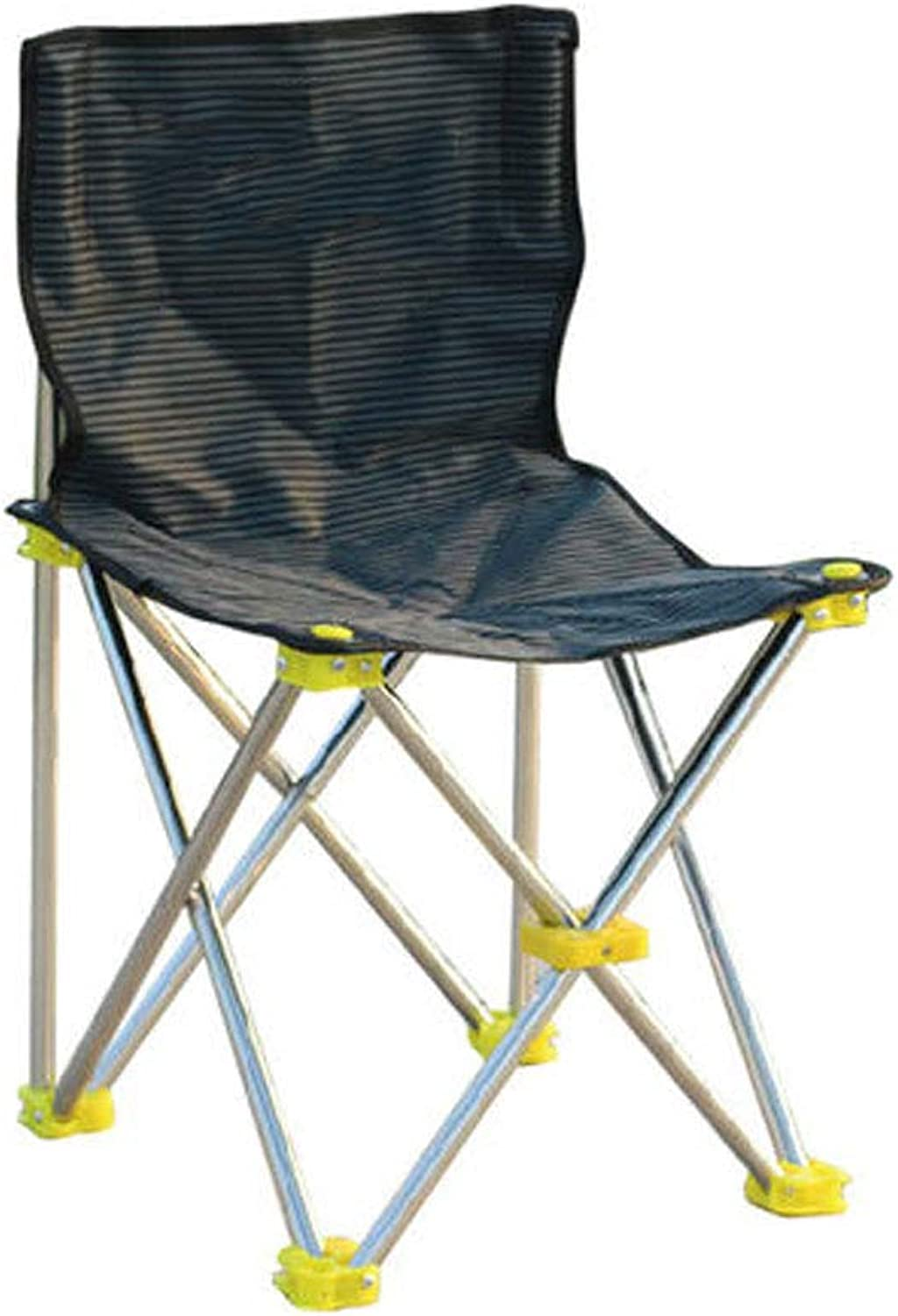 GLZDY Foldable Stainless Steel Outdoor Leisure Folding Chair Fishing Chair, with Fishing Frame Fishing Chair  38.5×36×66cm