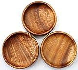 Holzgeschirr 3er Set Schälchen aus Akazienholz fair gehandelt für Nüsse oder Beeren