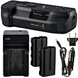 Blackmagic Design Pocket Cinema Camera Battery Grip for 6K Pro w/Battery Bundle - Includes: 2X Seller Supplied Replacement Batteries (NP-F570), AC/DC Rapid Travel Charger with Additional Car Adapter
