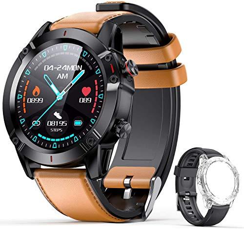 AGPTEK Smartwatch, Reloj Inteligente 1.3 Inch HD con Control de Podómetro Pulsómetro Cronómetro Calorías Monitoreo del Sueño, Pulsera Actividad de Fitness IP68 con Correa Repuesta