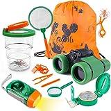 Tintec Kit Explorador Niños, Juguetes de Exploración 33 Piezas Al Aire para Niños de 3-10 Años, Juguetes Niños Educativos Regalo de Cumpleaños con Mochila Brújula Binocular Insectos Linterna