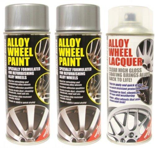 E-Tech 2 x Metallic Silver Alloy Wheel Paint and 1 x Lacquer Kit - Etech