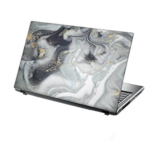 TaylorHe Folie Sticker Skin Vinyl Aufkleber mit bunten Mustern für 15 Zoll 15,6 Zoll (38cm x 25,5cm) Laptop Skin Marmor, fließendes Wasser