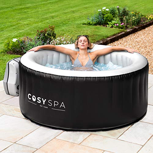 COSYSPA Inflatable Hot Tub – Luxury Outdoor Bubble Spa | 2-6 Person Capacity – Quick Heating (Hot Tub Only - 6 Person)