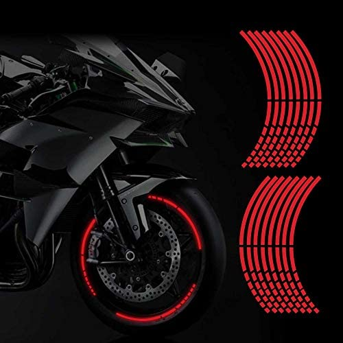 TOMALL 16 Reflective Wheel Rim Stripe Decal for Motorcycle Wheels Car Cycling Bike Bicycle Night product image