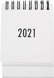 TomaiBaby 1Pcs Small 2021 Desk Calendar,Desktop Standing Flip Monthly Calendar Foldable Coil Calendar for Home Office Scho...