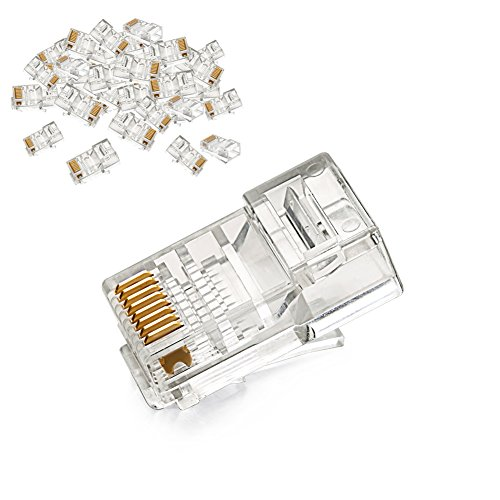 UGREEN 50 Unidades de Conector RJ45 Cat5e para Cable Ethernet Cat5e Cat5 Gigabit Ethernet 1000Mbps, Clavija RJ45 para PC, Router, Switch