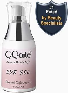 Eye Gel, QQcute Day & Night Anti-Aging Eye Treatment Cream for Wrinkle, Dark Circle, Fine Line, Puffy Eyes, Bags Best Hydrogel Eye Moisturizer for Women Mother's Day Gift - 1.7 fl oz.