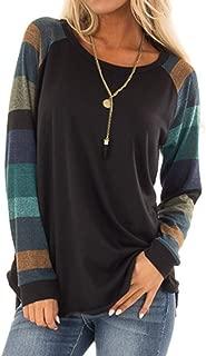 Fashion Women Stripe Casual Top T Shirt Ladies Loose Long Sleeve Top Blouse