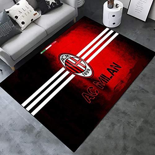Tappeto Milan Fans, AC Sport Tema Soggiorno Sala da Pranzo Tappeto Tappeto,F,80 * 120cm