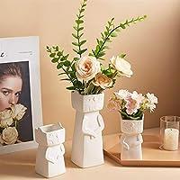 花瓶花瓶の装飾ホームセラミック形状クリエイティブ花瓶家の装飾リビングルーム寝室デスクトップアクセサリーギフト(色:A4)