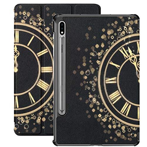 Funda Galaxy Tablet S7 Plus de 12,4 Pulgadas 2020 con Soporte para bolígrafo S, Fiesta de Fin de año 2013 Invitación Funda Protectora Delgada con Soporte para Samsung