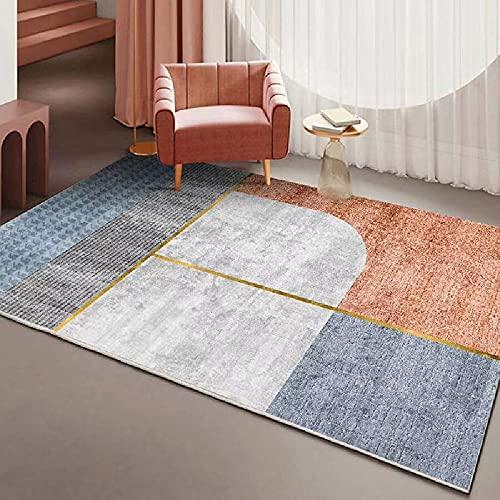 Alfombras alfombras de habitacion Infantil El diseño geométrico Azul Rojo Rosa adormecido no se desvanece la Alfombra Alfombra para niños Decoracion habitacion Infantil 60*160CM