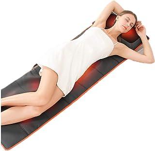 MUZILIZIYU Colchón de Masaje con calefacción de Cuerpo Completo con 9 Motores Vibrantes para aliviar el Dolor de la Pierna Lumbar Plegable y fácil de Transportar Esposa/Esposo/mamá, Negro