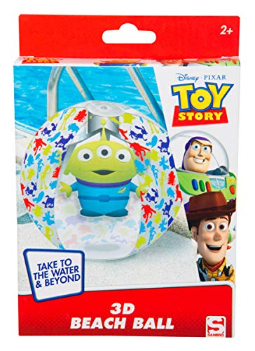 Sambro DTS-3396 - Pallone da acqua con effetto 3D, ca. 45 cm, motivo: Toy Story con alien, per bambini dai 2 anni in su, con valvola di sicurezza, ideale per piscina, spiaggia e piscina
