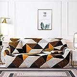 MKQB Funda de sofá de celosía geométrica Cuadrada, Funda de sofá elástica de combinación de Esquina para Sala de Estar, Funda de sofá de protección para Mascotas n. ° 10 XL (235-300cm)