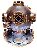 Brass Antique Helmet Deep Sea US Navy Mark V Diving Scuba Divers 18""