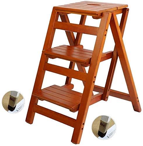 Suge Holzleiter Hocker Schritt Hocker Klappleiter Hocker Schritt Hocker Massivholz-Blumenregal Haushalt Holzleiter Multifunktions-Indoor Ascend Leiter Kleine Hocker Mehrere Anlässe (Color : 2#)