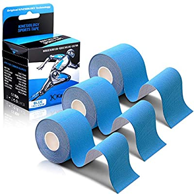 Kinesiology Tape - Athletic Sports Lifting Tape for Pain Relief, Muscle and Joint Support, Workout Recovery, Achilles, Back, Knee, Shoulder, Ankle, Wrist, Foot, Elbow, Arm, Physical Therapy Equipment