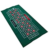SinceY Roulette - Tovaglia da Poker in Feltro, Double Face, 60 x 120 cm