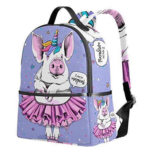 Cute Pig Backpacks for Girls Elementary School Animal Bookbags for Kids 1st 2nd 3rd Grade