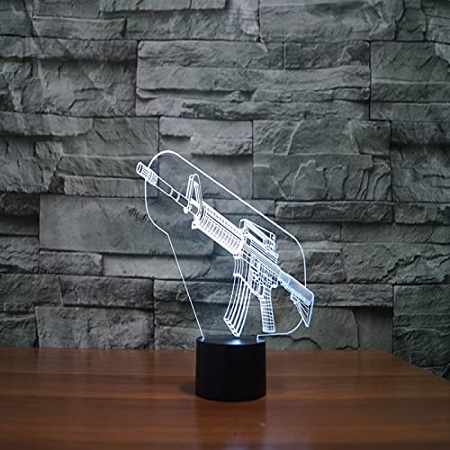 Yyhmkb Lampada Parete La Camerette Per Ragazzi Portatile Lampada Cucina Gun 3D Light Colorful Touch Led Visual Light Gift Decorazione Lampada Da Tavolo