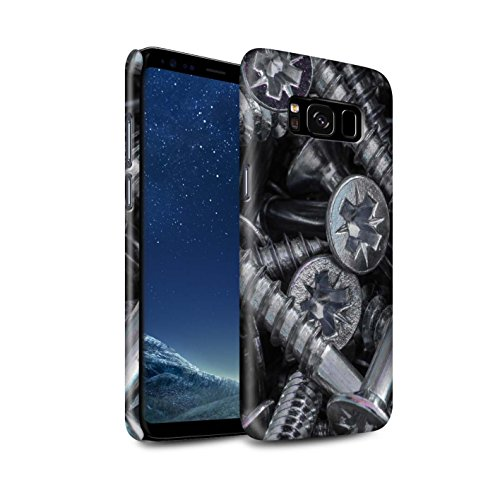 Stuff4® glanzende snap-on hoes/case voor Samsung Galaxy S8/G950 / schroevenkop patroon/thuiswerkcollectie