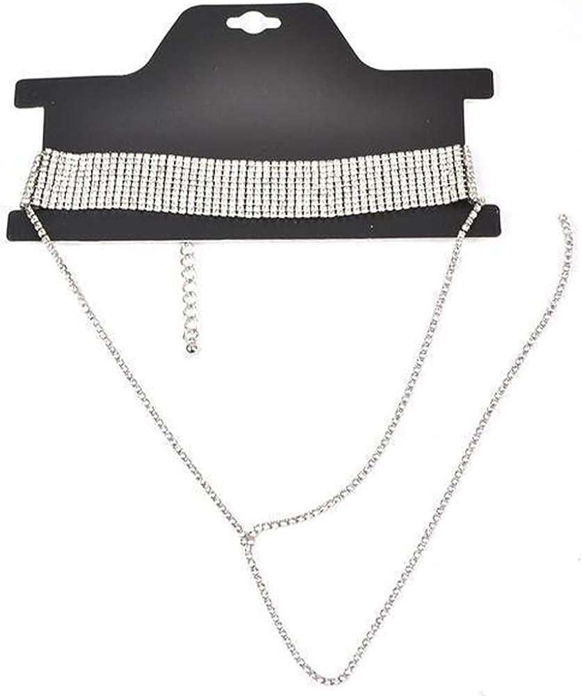 Necklace Zircon Tassel Necklace Multilayer Women's Tassel Necklace