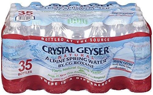 Crystal Geyser Alpine Spring Water, 16.9 oz Bottle, 35 count