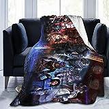839 M-Ass Ef-FECT Soft Warm Blanket,Flannel Fleece Blanket,Super Soft Micro-Velvet Blanket,Hypoallergenic Plush Bed Sofa Living Room 50 inch X40 inch , Black