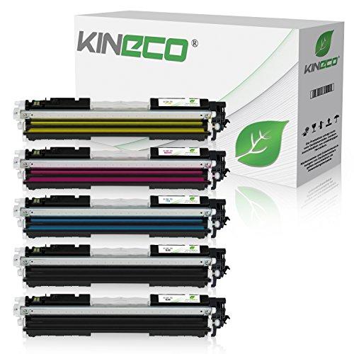 5 Toner kompatibel zu Canon 729 für Canon I-Sensys LBP-7010c, LBP-7018c, LBP-7000 Series, Lasershot LBP-7000 Series - Schwarz je 1.200 Seiten, Color je 1.000 Seiten