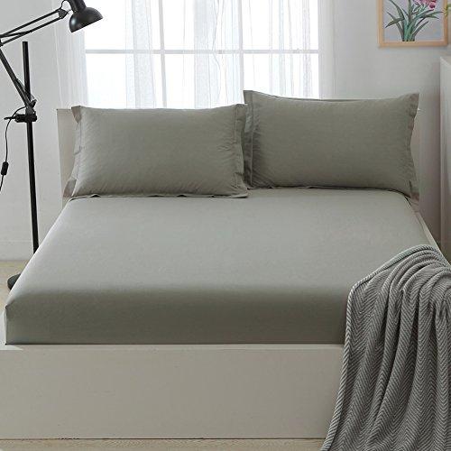 Katoenen Bed Hoes, Eendelig Katoen Hypoallergene Matrashoes Matrashoes Meer dan 1,5 m Lakens 1,8 m Bed Cover Met Split Hoeken geplooide Styling