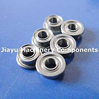 Fevas 50 PCS SF682ZZ Flanged Bearings 2x5x2.3 mm Stainless Steel Flange Ball Bearings DDLF-520ZZ