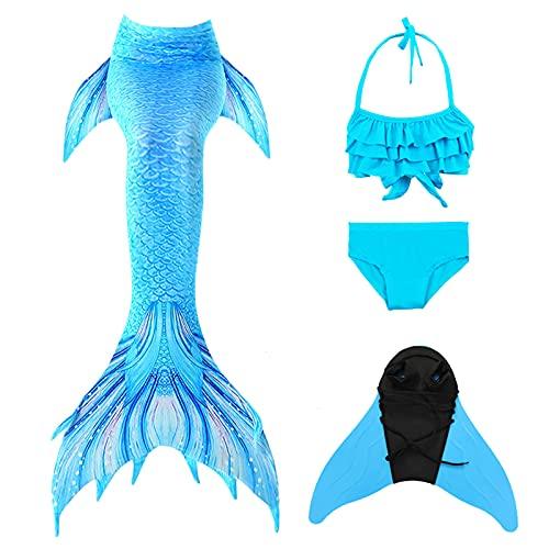FZCRRDU KOCCAE Traje de baño de Cola de Sirena para niñas,Princesa Bikini Mermaid para...