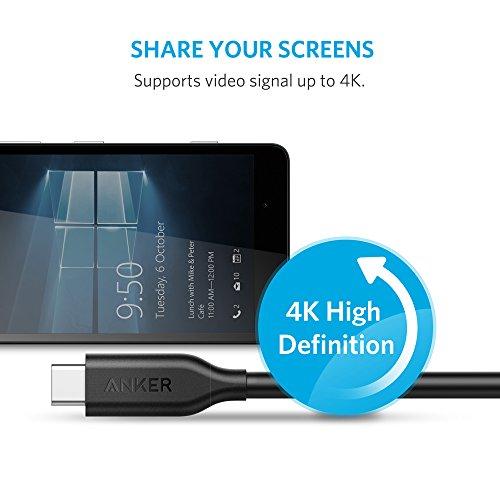 Anker Powerline USB-C auf USB C 3.1 Gen 1 Kabel (90cm) mit Ladefunktion für USB Type-C Geräte inklusive Galaxy S10, S9,S8, S8+, iPad Pro 2020,Google Pixel, Nexus 6P, Huawei Matebook, MacBook und mehr