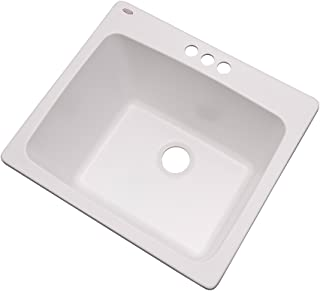 Dekor Sinks 42300NSC Westworth Composite Utility Sink with Three Holes, 25