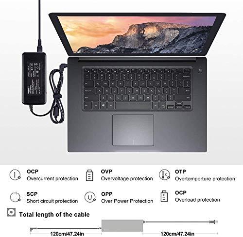 SUNYDEAL Universalnezteil Notebook Laptop Ladegerät Ladekabel AC Adapter für Acer ASUS Sony Toshiba Satellite Medion HP Dell Lenovo IBM Samsung Fujitsu MSI 16V 18.5V 19V 19.5V 20V 24V 90W mit 15 Tip
