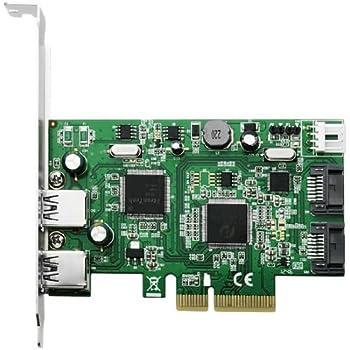 エアリア Two-Tone Double Arm Suplex PCI Express x4 接続 USB3.0 2 ポート SATA3.0 2ポート 複合カード SD-PE4U3SA3-2E2IL