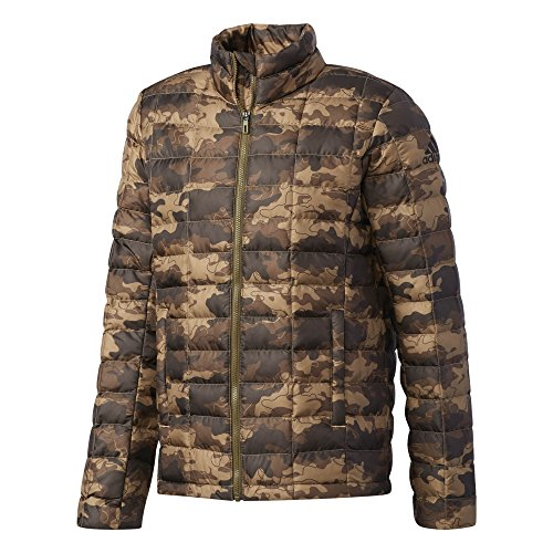 adidas Herren Camouflage Print Light Jacke Daunenjacke, Traoli/Black, L