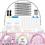 OurWarm Balloon Arch Kit with Base, 10Ft Wide & 9Ft Tall Adjustable Floor Balloon Arch Stand Kit, Ballon Arch Holder Kit with 50pcs Balloon Clips for Wedding Baby Shower Birthday Party Decorations